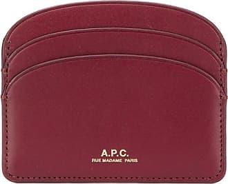 A.P.C. Porta-cartões com logo - Vermelho