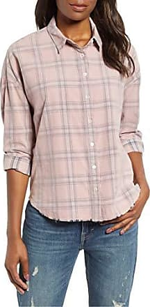 6f293dc3 Lucky Brand Womens Button UP Plaid Multi Corduroy Shirt, Pink, L