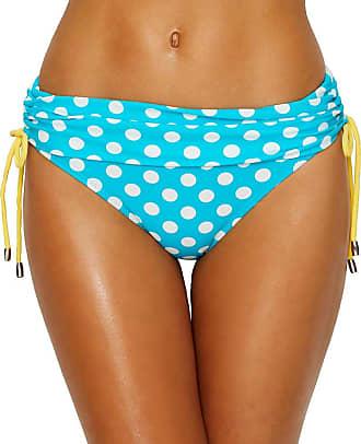 Pour Moi? Starboard Adjustable Fold Over Bikini Brief 68003 Turquoise/Lemon - 8