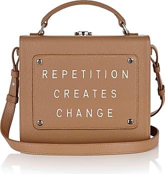 Meli Melo Meli Melo Art Bag Repetition creates change Rebecca Ward Light Tan Leather Bag for Women