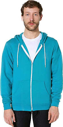 American Apparel Mens Opaque Hooded Long Sleeve Hoodie - turquoise - L
