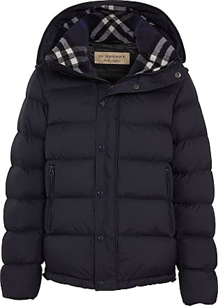 Burberry Detachable-sleeve Down-filled Hooded Puffer Jacket - Blue