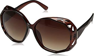 Jessica Simpson Womens J5724 BRN Non-Polarized Iridium Round Sunglasses Brown 70 mm