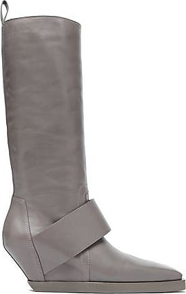 7b1d90df980 Rick Owens Rick Owens Woman Leather Wedge Boots Gray Size 35