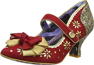 Irregular Choice Womens You Star Mid Heel Shoes, (Red/Gold A), 6.5 (40 EU)