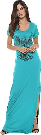 Colcci Vestido Colcci Longo Estampado Azul