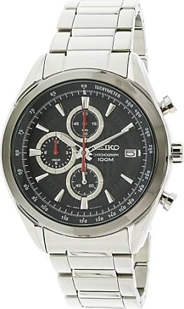Seiko Mens SSB201 Silver Stainless-Steel Japanese Quartz Sport Watch