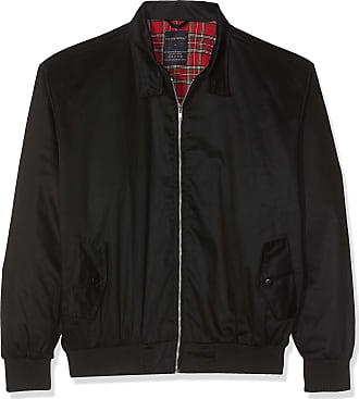 MyShoeStore Unisex Mens Ladies Womens Vintage Harrington Jacket Adults Bomber Coat Classic Retro Scooter 1970s Mod Skin Tartan Lining Top Size XS-5XL