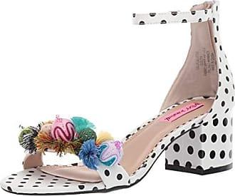 Betsey Johnson Womens LULU Heeled Sandal White/Multi 7.5 M US