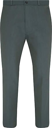 Relco Mens Two Tone Tonic Sta-Press Mod Trousers Green/Gold Size 32