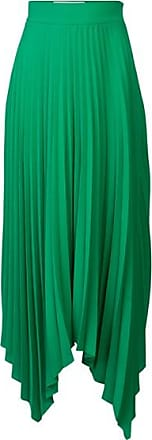 Anne Fernandes Saia Midi Plissada Green