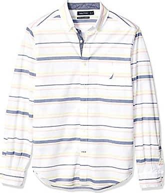 Nautica Men/'s Woven Button Down L//S Shirt-BLUE 41M-LARGE-NWT