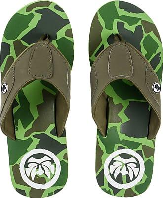Urban Beach Mens Mirage Camoflauge Toe Post FLIP Flops Beach Sandals -UK 8 (EU 42) Green
