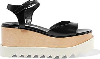 Stella McCartney Stella Mccartney Woman Elyse Faux Leather Platform Sandals Black Size 40.5