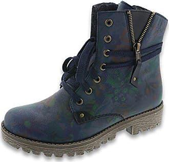 Rieker 78537-15 Damen Boots Schnürung Textilfutter sportive  Profillaufsohle, Groesse 39, blau  2f56e80f14