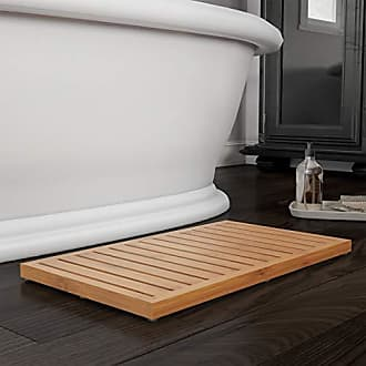 Trademark Lavish Home Bamboo Bath Eco-Friendly Natural Wooden Non-Slip Slatted Design Mat for Indoor and Outdoor Bathtub, Shower, Sauna, Pool, or Hot Tub