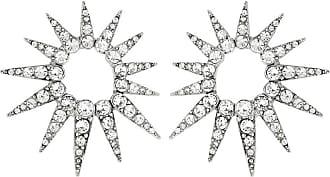 Oscar De La Renta Crystal starburst earrings