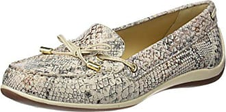 Geox Womens Yuki 26 Moccasin, Off Off White/Light Taupe, 38.5 M EU (8.5 US)