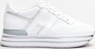 Hogan sneakers dettaglio argento - bianco