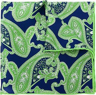 Kiton Lenço de bolso com estampa paisley - Verde