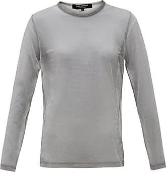 Junya Watanabe Sheer Raised-seam Metallic T-shirt - Womens - Silver