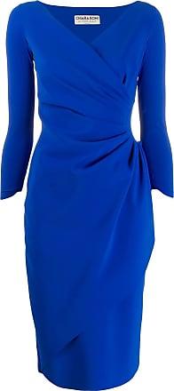 La Petite Robe Di Chiara Boni Vestido midi com franzido - Azul