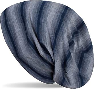 styleBREAKER Unisex Beanie hat with Tonal Stripe Colour Gradient, Slouch Long Beanie 04024163, Color:Denim Blue