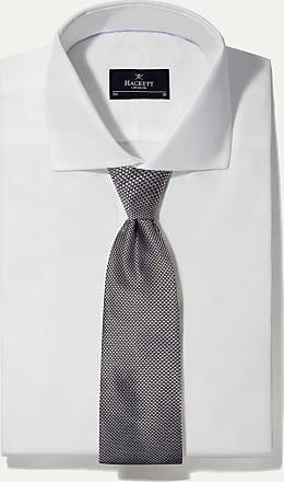 Hackett Small Dogtooth Check Formal Silk Tie   Black/White
