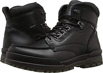 Ecco Track 6 GTX Moc Toe Boot (Black/Black) Mens Lace-up Boots