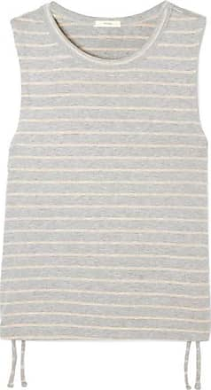 Eberjey Logan Striped Ribbed Stretch-jersey Tank - Gray