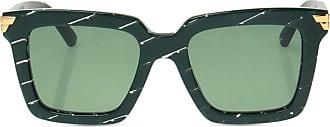 Bottega Veneta Logo Sunglasses Womens Green