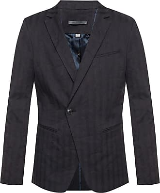 John Varvatos Striped Blazer Mens Navy Blue