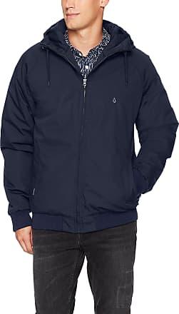 Volcom Mens Hernan Jacket Down Outerwear Coat, Navy, Small