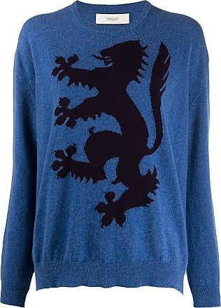 Pringle Of Scotland Suéter Lion Rampant de cashmere - Azul