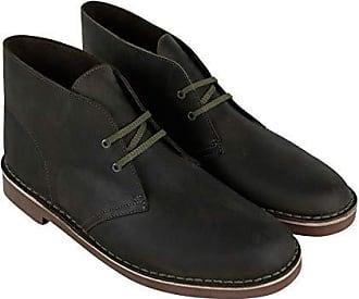 44d01b092a4c8 Clarks Mens Bushacre 2 Chukka Boot, Dark Olive Leather, 13 M US