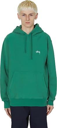 Stüssy Stock logo hooded sweatshirt GREEN S