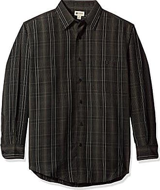 Haggar Mens Long Sleeve Sueded Effect Microfiber Woven Shirt, Canteen, S