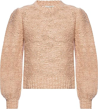 Ulla Johnson Isolde Sweater With Puff Sleeves Womens Pink