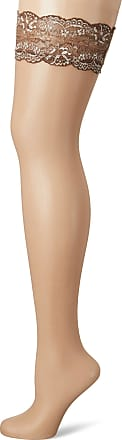 Fiore Womens Romina/Sensual Hold - up Stockings, 20 DEN, Brown (Chocolate), Medium (Size: 3)