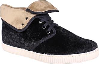9af928139632 Victoria Womens Hi-Top Slippers Black Size  4
