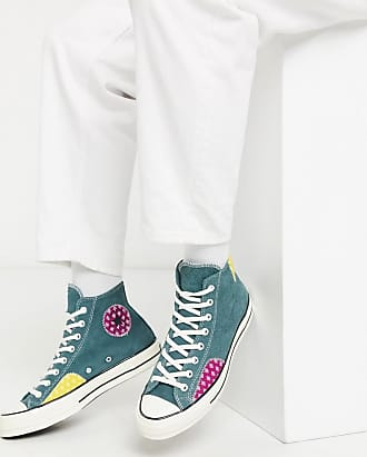 Converse Chuck 70 Twisted Prep - Grüne Sneaker mit Patchwork-Muster