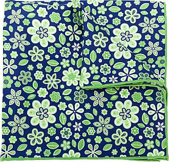 Kiton Lenço de bolso com estampa floral - Verde