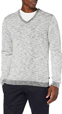 Q/S designed by - s.Oliver Mens 40.909.61.2639 Jumper, Off-White (Snow White 02W0), L