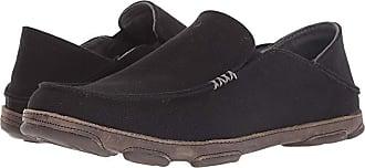 Olukai Moloa Kapa (Black/Charcoal) Mens Shoes