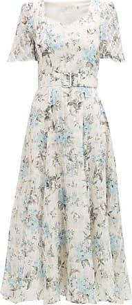 Goat Julip Floral-print Cotton-blend Organza Dress - Womens - Light Blue