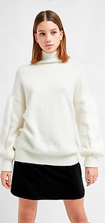 French Connection Normie Faux Fur Knit High Neck Jumper