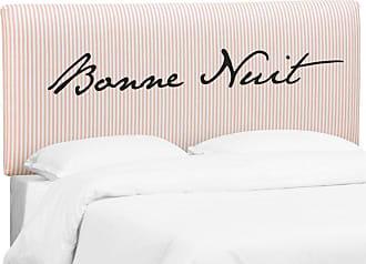 Skyline Furniture Upholstered Headboard - Bonne Nuit Eng Pink, Size: Queen - 752QBNNTENGPKOGA