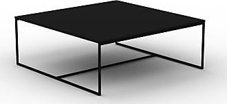 MYCS Table basse - Noir, design, bout de canapé sophistiqué - 121 x 46 x 121 cm, personnalisable