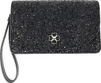 Kate Spade New York Kate Spade New York Multifunctional Glitter Wallet Wristlet Clutch (Black Odette Glitter)