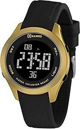 X-Games Relógio Masculino Dourado e Preto Digital X-Games Original